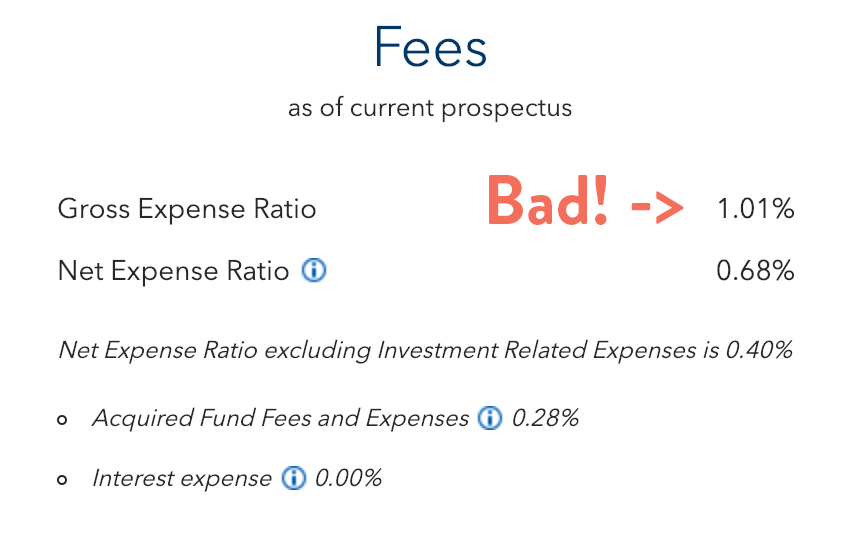 Target date index fund with high fees