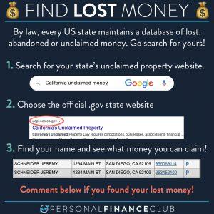 Escheat - Find lost money