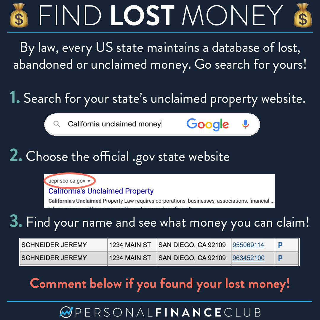Find Lost Money