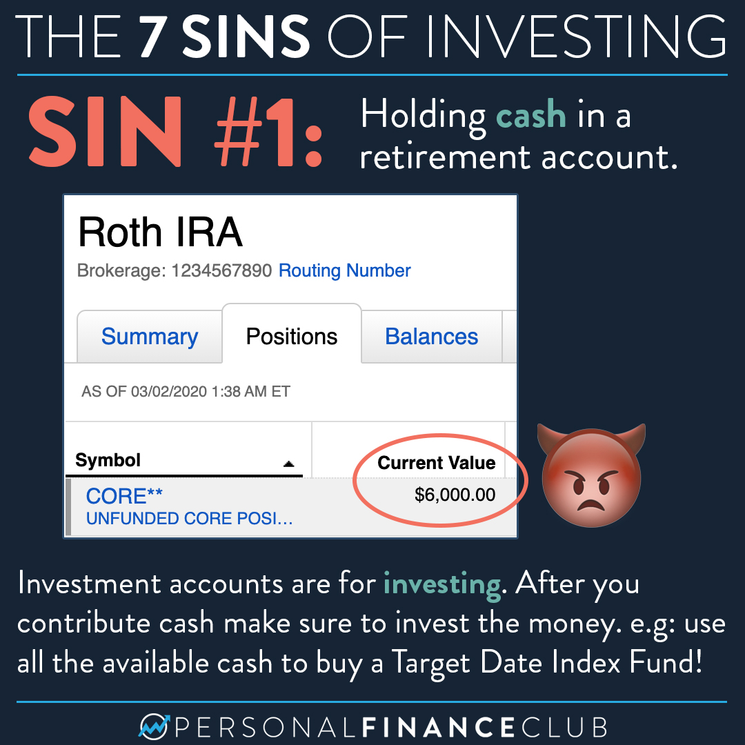 The 7 Sins of Investing
