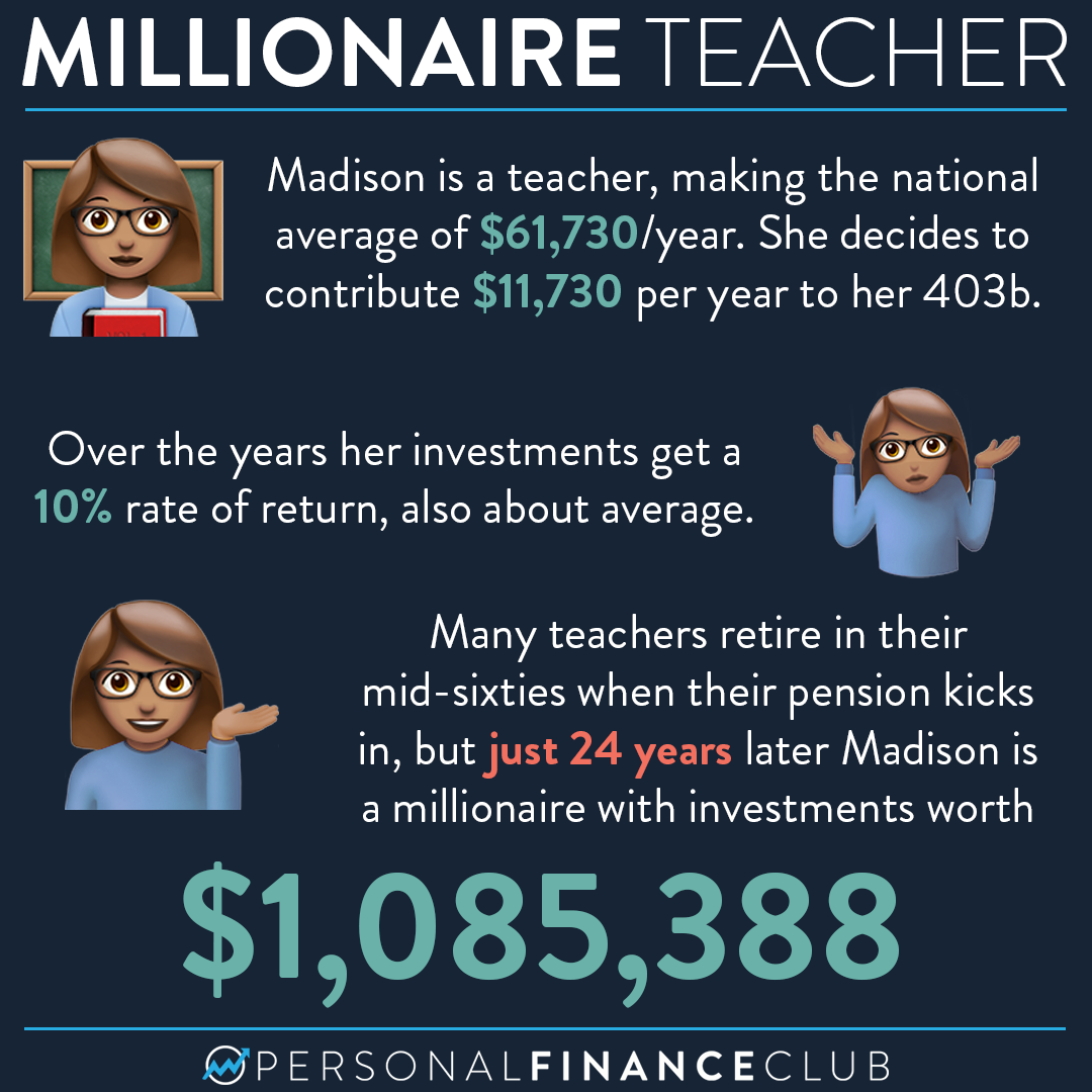 Can I become a millionaire as a teacher?
