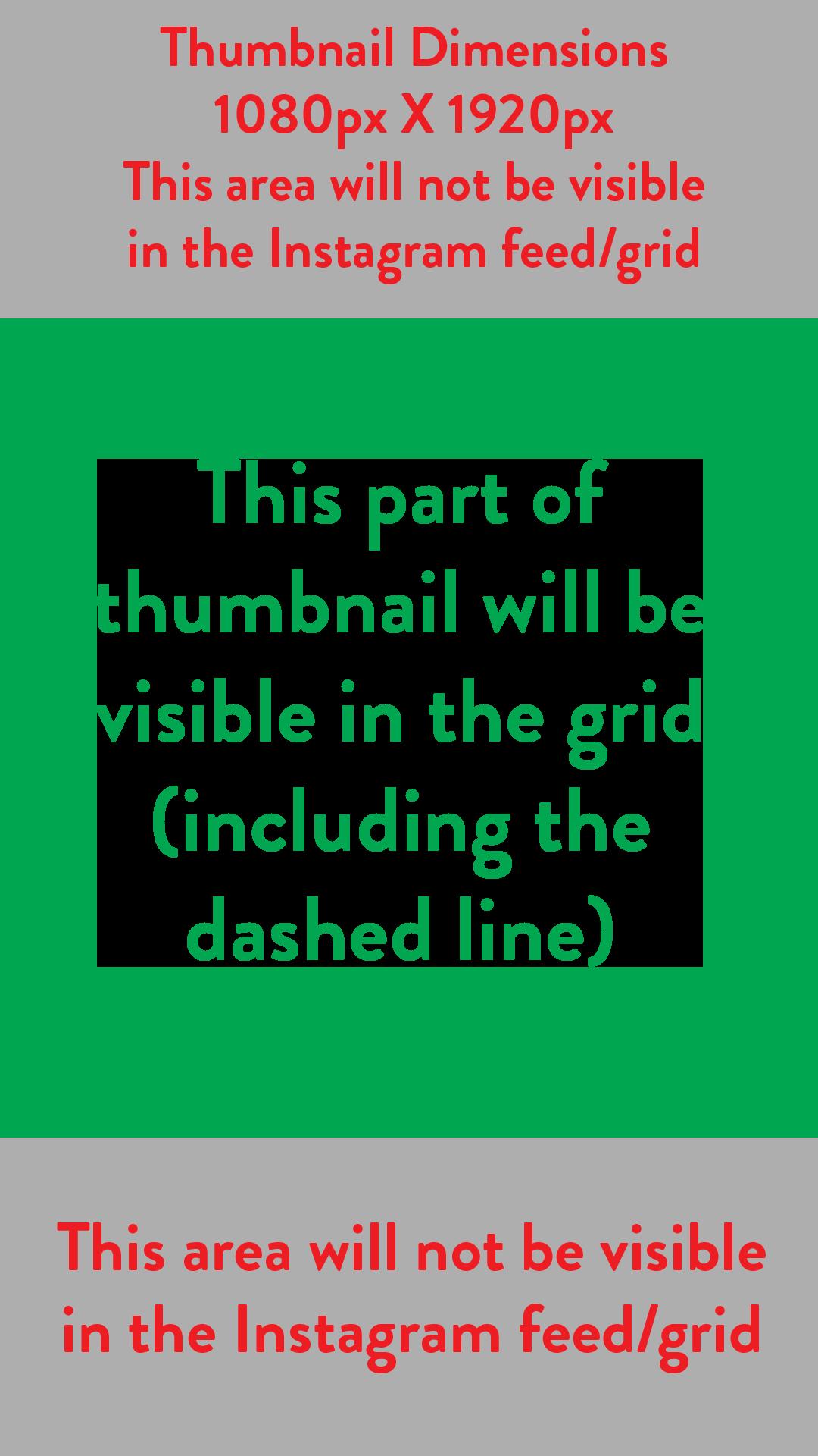 Instagram Reels Thumbnail Template Grid (1080px X 1920px)