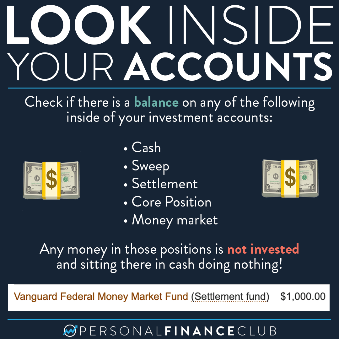 Cash inside of an investment account