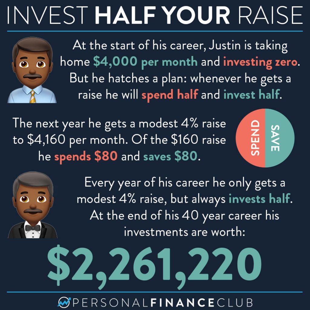 Invest half your raise