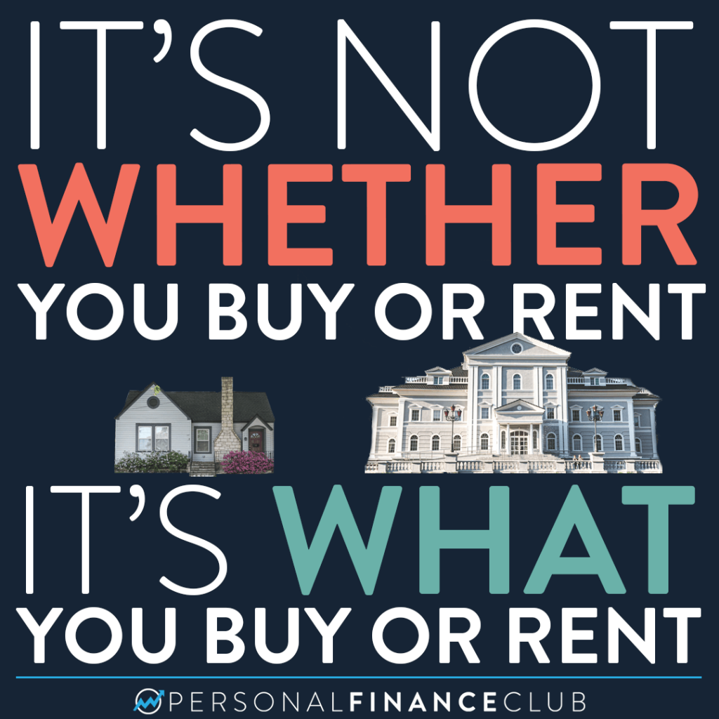 Whether you buy or rent