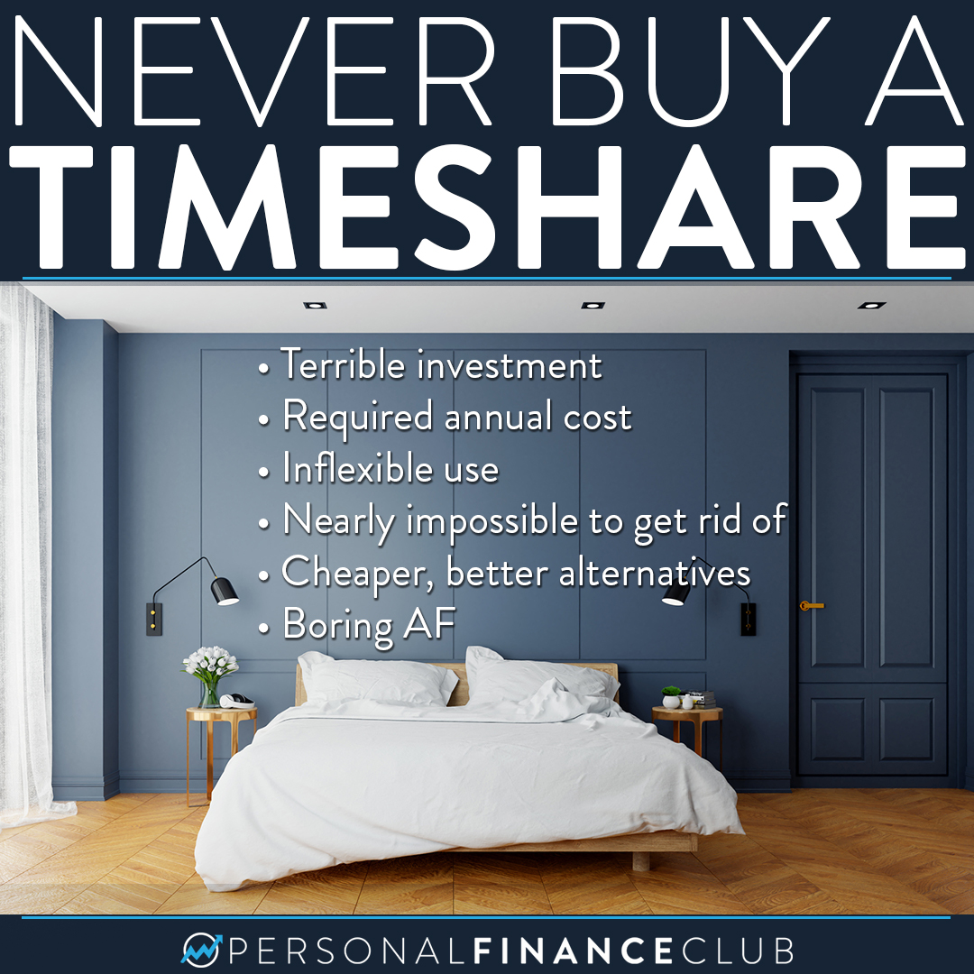 Never buy a timeshare