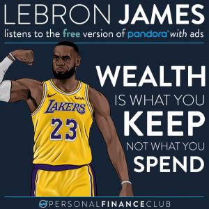 Lebron James uses free Pandora with ads
