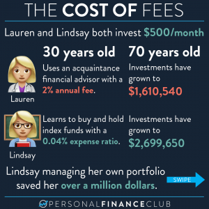 The cost of fees - financial advisor