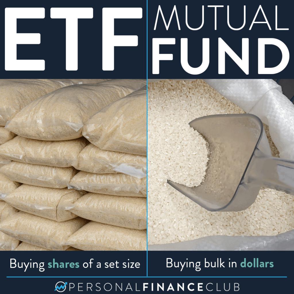 ETF vs mutual fund as rice